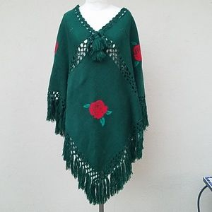 Forest festival poncho